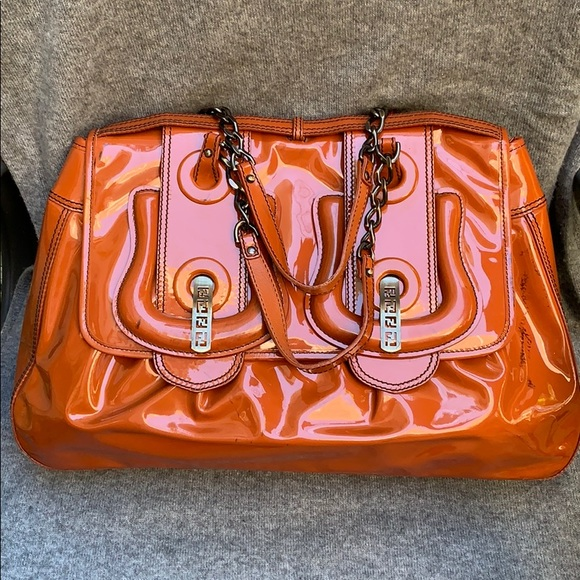 Fendi Handbags - Fendi B Bag Patent Leather